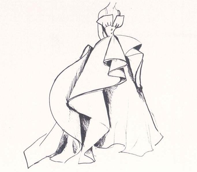 Платье, послужившее вдохновением на создание кольца
