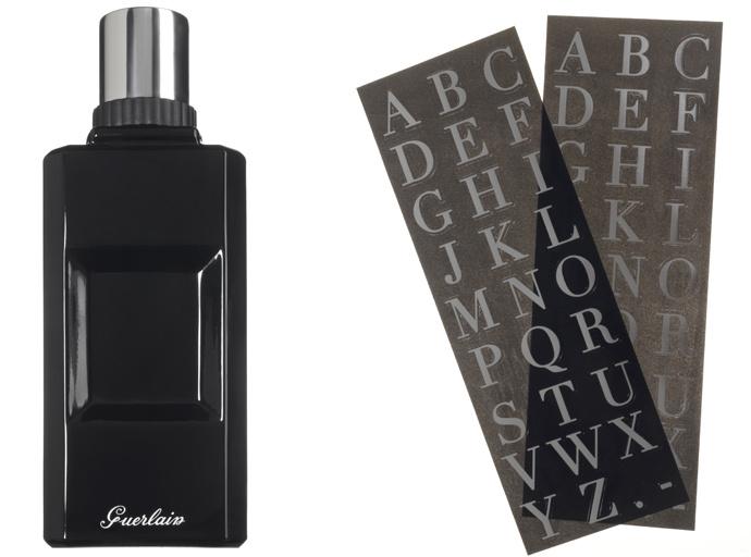 Мужской аромат Mon Habit Rouge, Guerlain, с набором наклеек для кастомизации