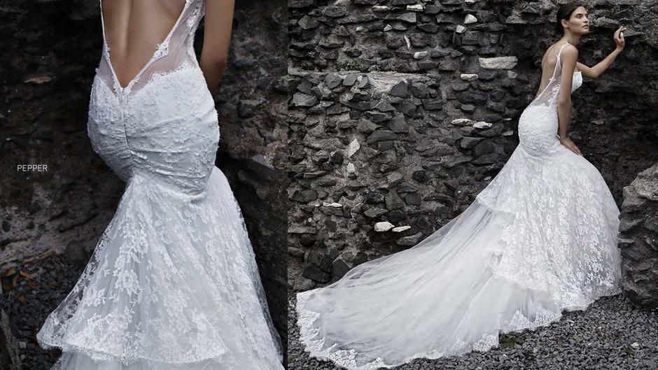 Свадебное платье с кружевом: фото