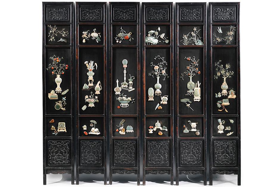 Антикварная ширма, Sotheby's.