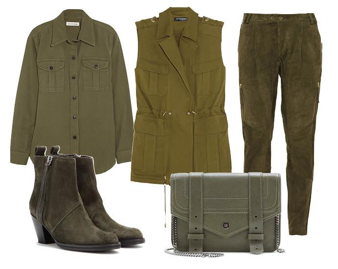 Выбор ELLE: рубашка Étoile Isabel Marant, брюки Day Birger and Mikkelsen, ботильоны Acne Studios, сумка Proenza Schouler