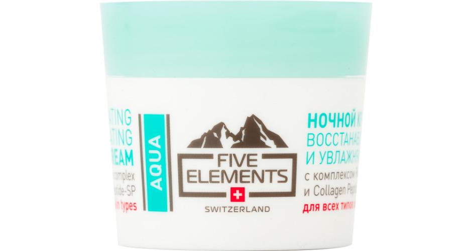 Ночной восстанавливающий и увлажняющий крем Aqua Regenerating and Hydrating Night Cream от Five Elements