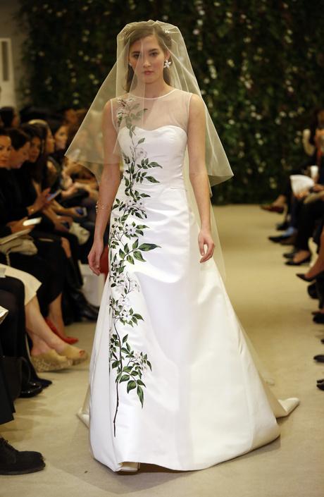 Показ Carolina Herrera на Неделе свадебной моды в Нью-Йорке
