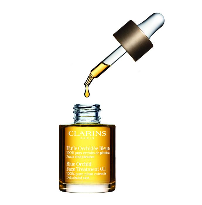 Масло для обезвоженной кожи лица Orchidée Bleue от Clarins
