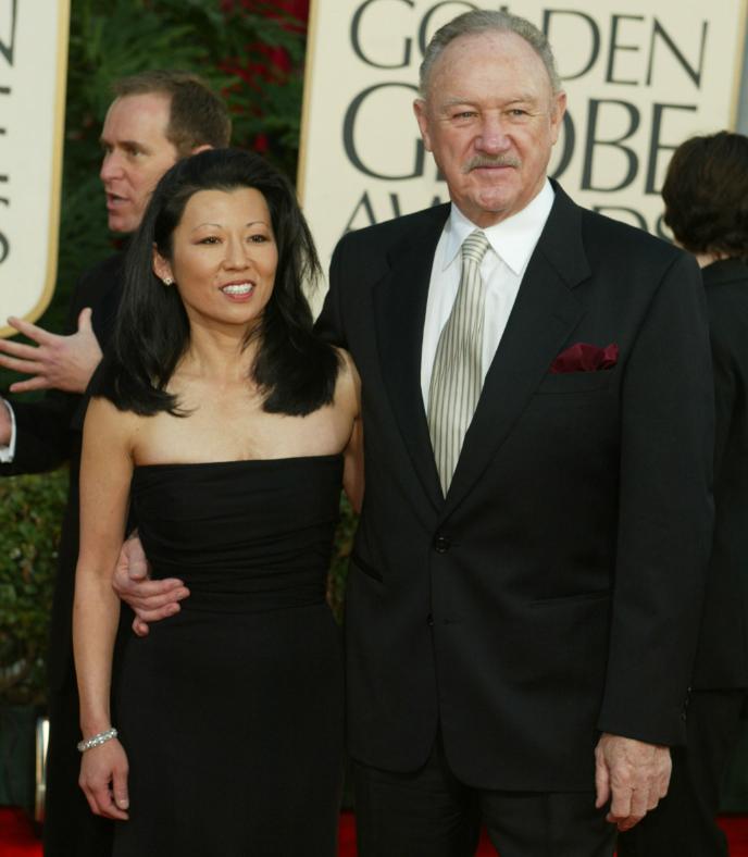 Джин Хэкмен со второй женой Бетси Аракава