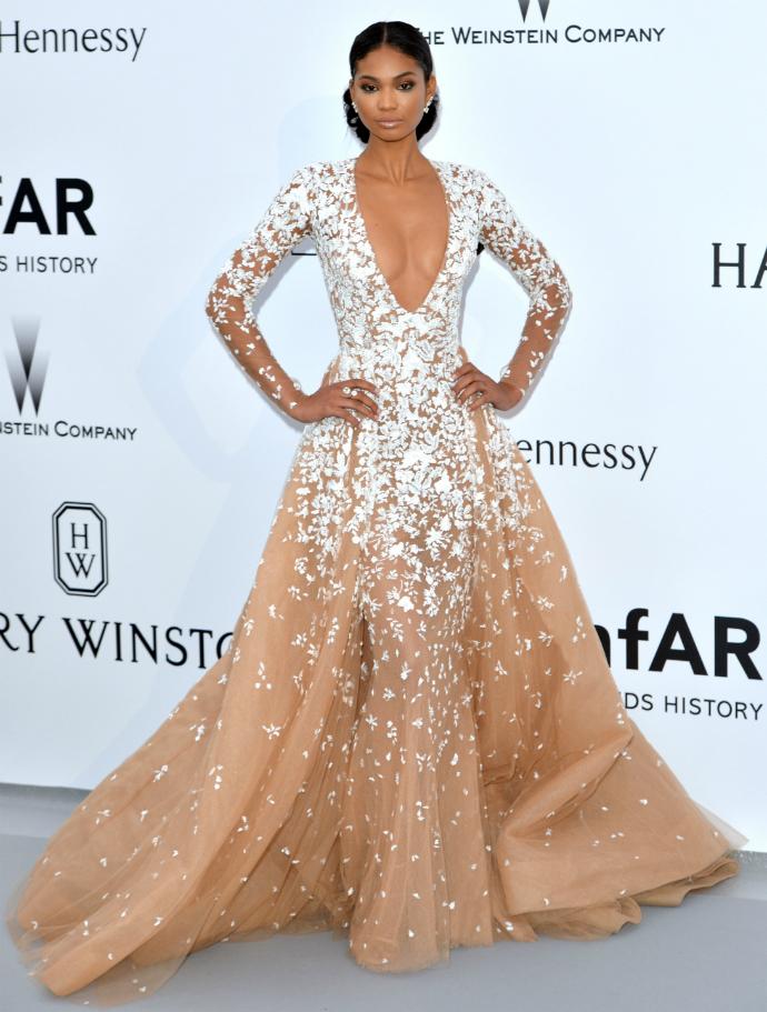 Шанель Иман в Zuhair Murad Couture на amfAR Gala в Каннах