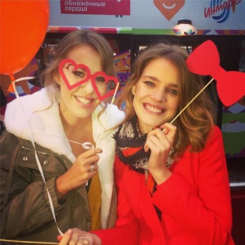 Ксения Собчак и Наталья Водянова