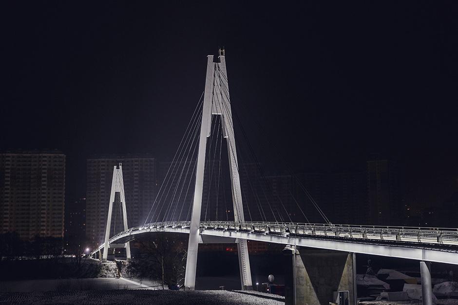 Павшинский пешеходный мост в Красногорске