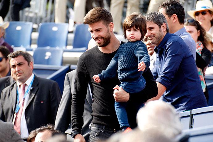 Жерар Пике с сыном Миланом