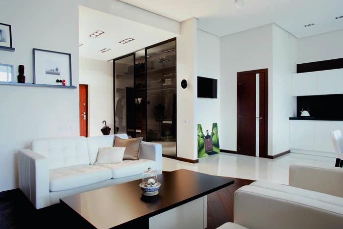 Интерьер однокомнатной квартиры студии фото [2]
