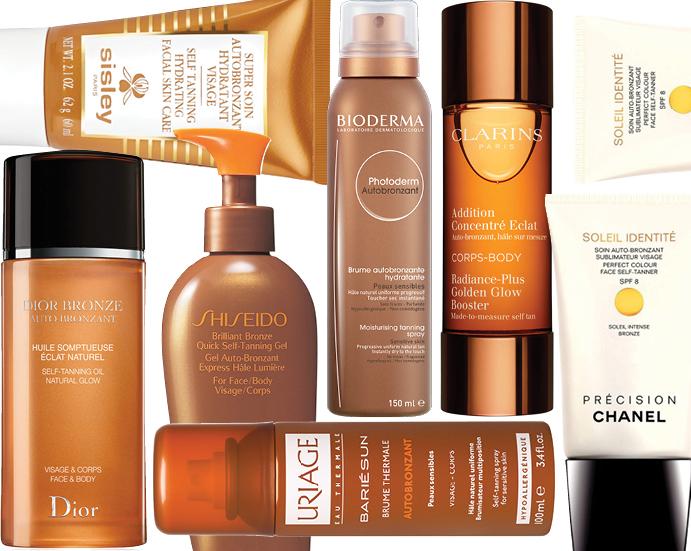 Автозагары Dior, Sisley, Shiseido, Uriage, Bioderma, Clarins, Chanel