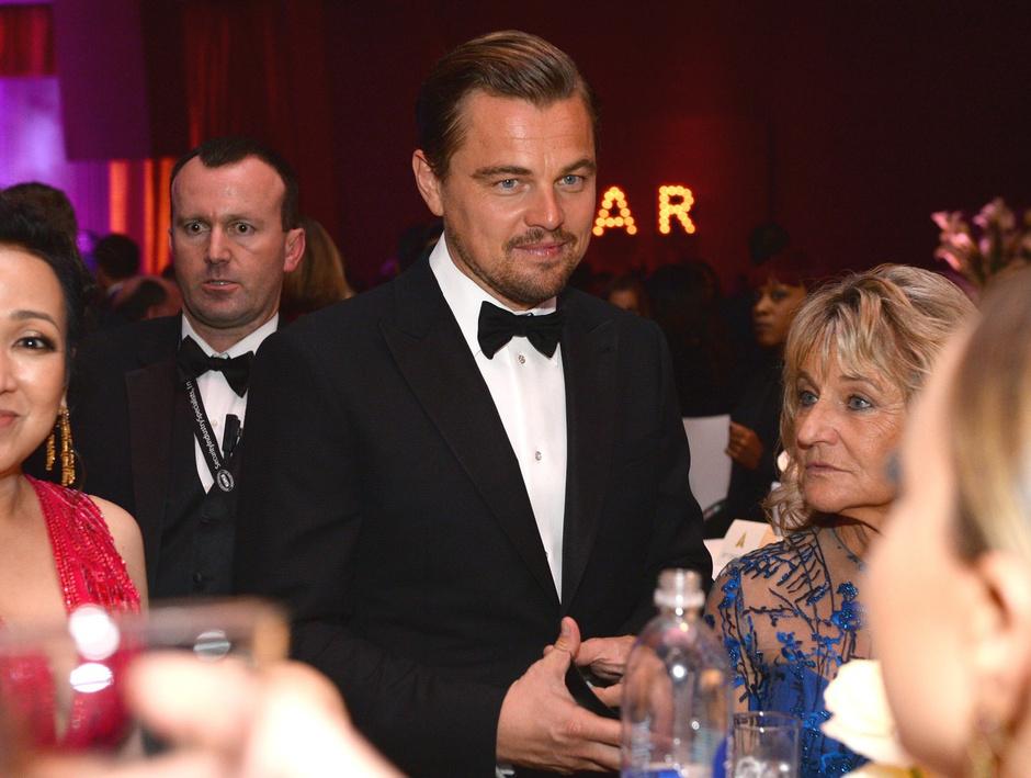 Леонардо Ди Каприо с мамой Ирмелин