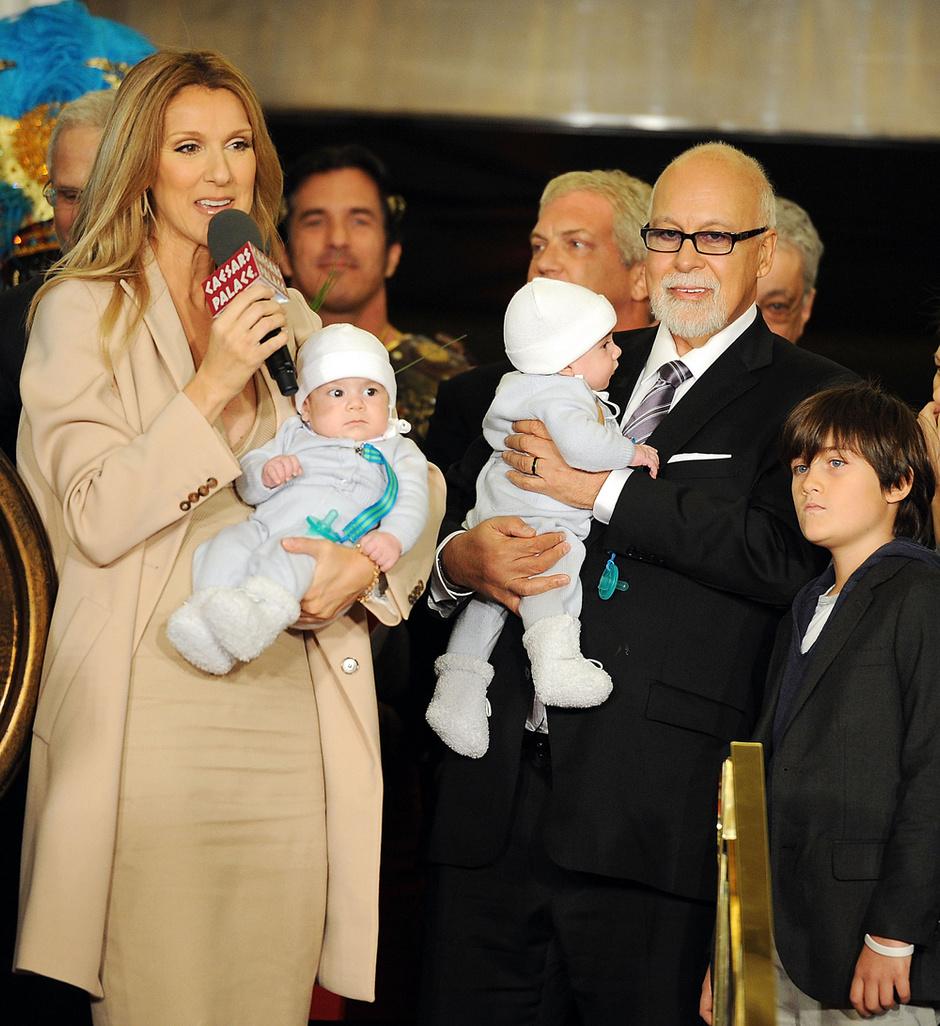 Селин Дион с мужем и детьми: фото