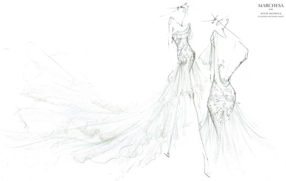 Эскиз наряда от Marchesa