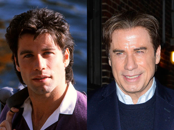 Джон Траволта в 1977 и в 2016