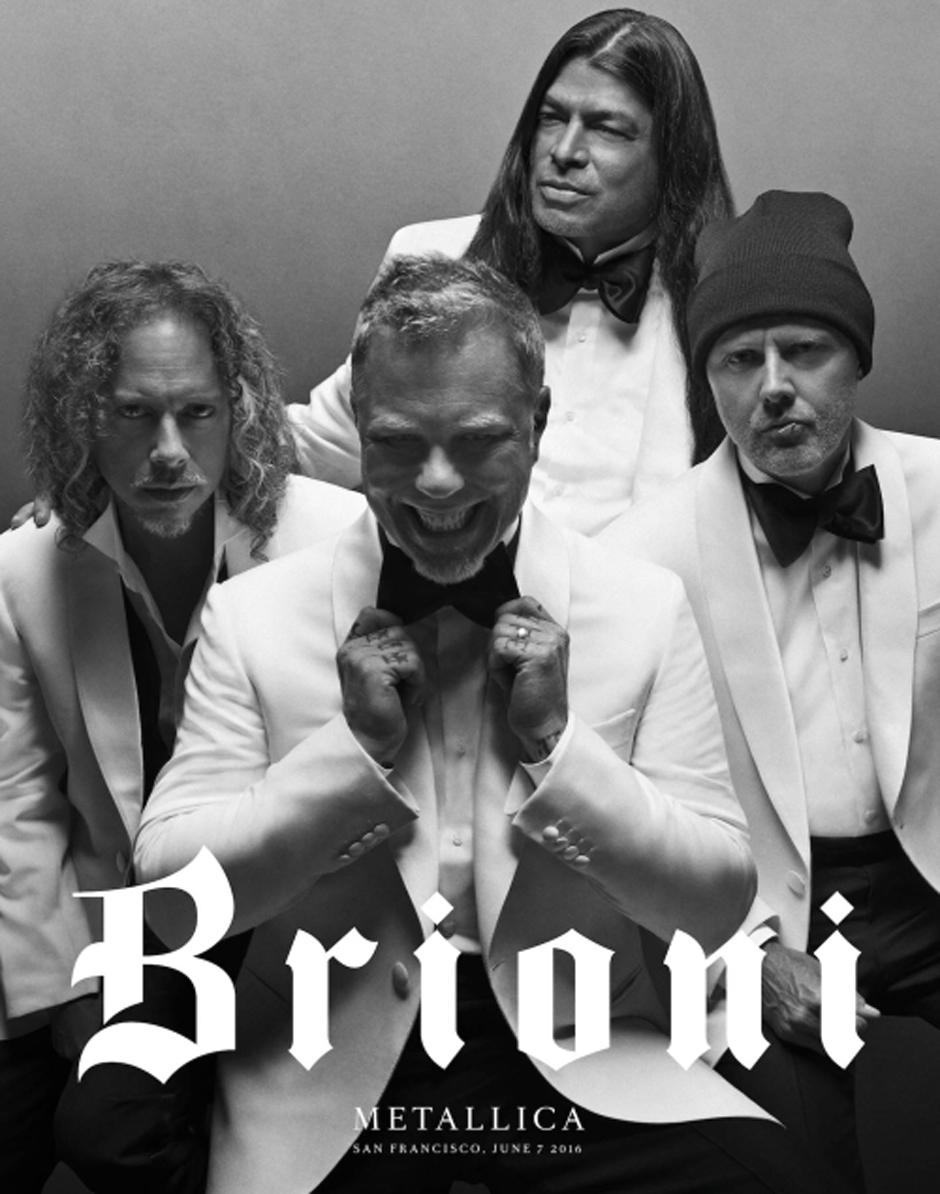 Группа Metallica снялась для Brioni