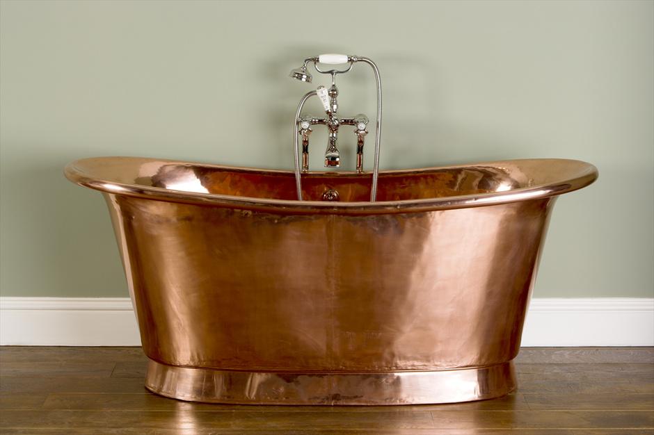 Ванна The Copper Bateau сделана вручную из меди, Catchpole & Rye, салоны The English House Rosbri.