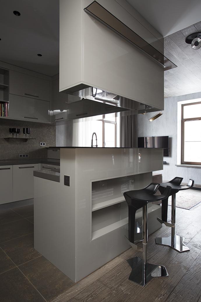 Кухонные шкафы, Tempora, подвешены к потолку