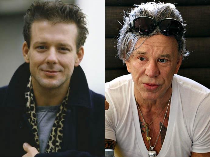 Микки Рурк в 1997 и в 2015