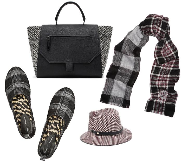 Выбор ELLE: лоферы Proenza Schouler, сумка Zara, шарф Alexander McQueen, шляпа Prince of Wales
