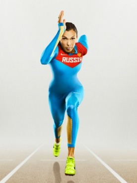 Форма Nike для олимпийской сборной России по легкой атлетике