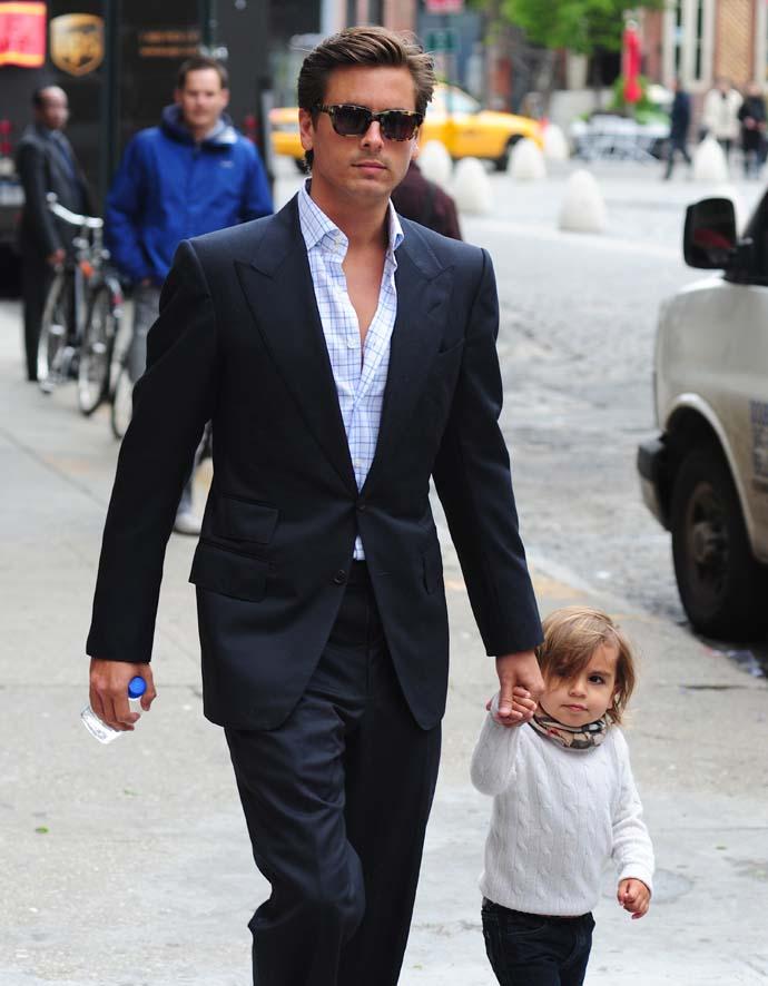 Скотт Дисик с сыном Мейсоном