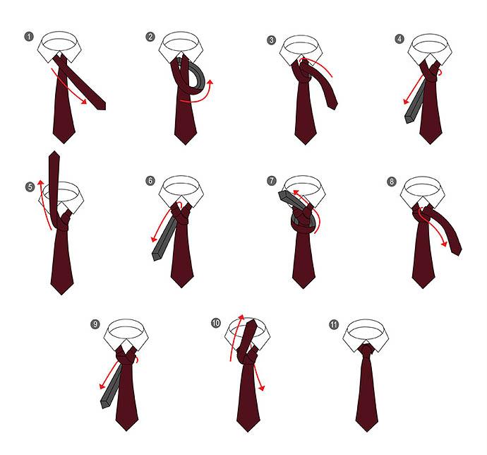 Способы завязывать галстук схемы фото 2016