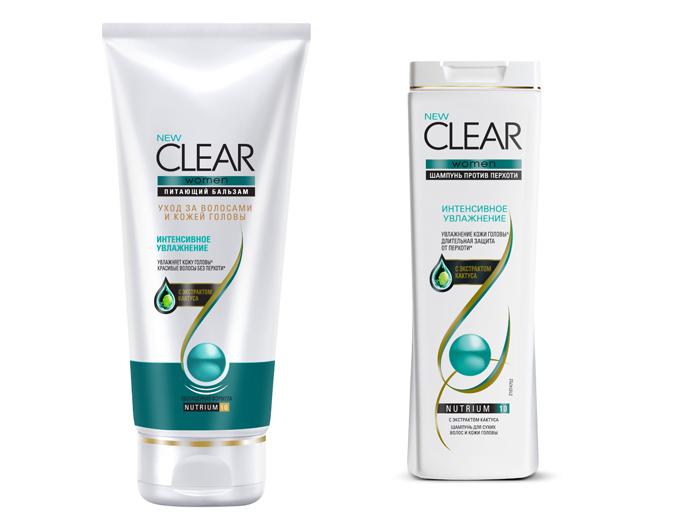 Линия продуктов для волос «Интенсивное увлажнение» от Clear