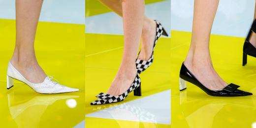 Туфли на низком каблуке на показе Louis Vuitton