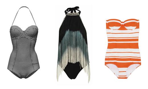 Фото актуальных моделей закрытых купальников: OVS, Asos, Dolce & Gabbana