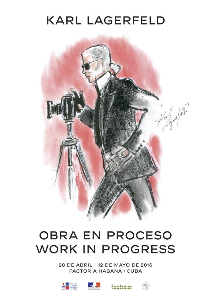 На Кубе открылась выставка Карла Лагерфельда Obra en Proceso/Work in Progress