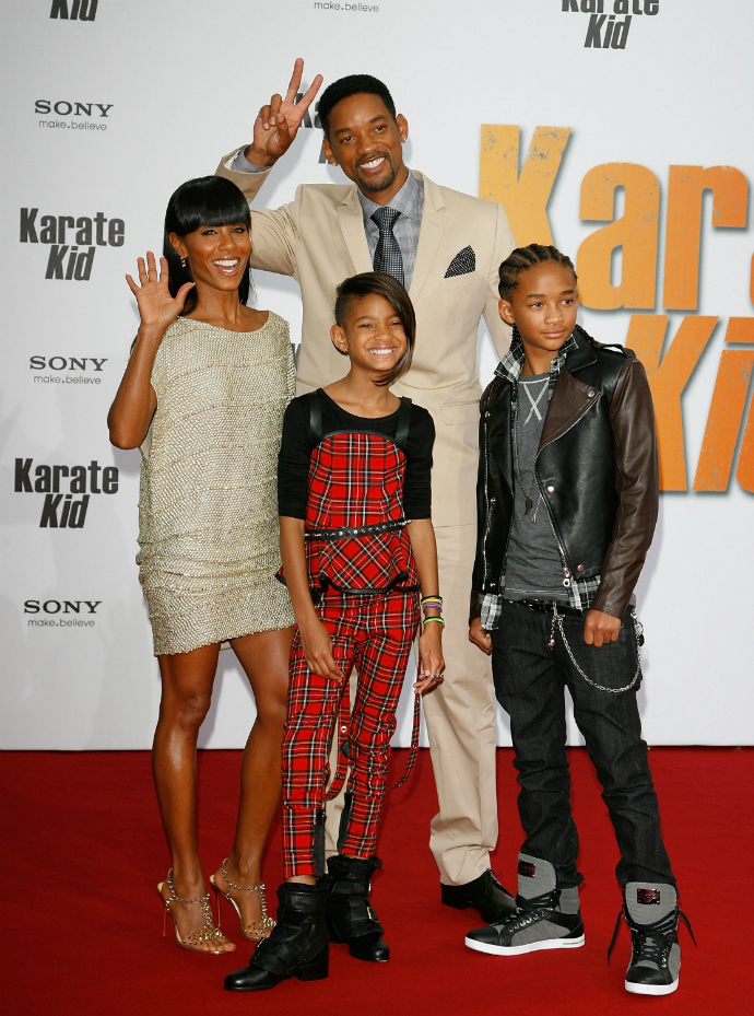 Уилл Смит с семьей