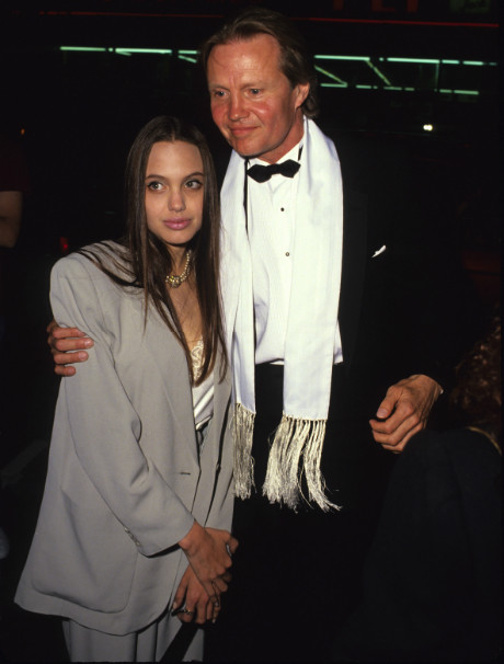 Джон Войт и Анджелина Джоли (1991 год)