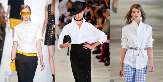 Модные женские рубашки 2013: Michael Kors, Ralph Lauren, Alexis Mabille