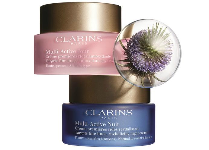 Дневной и ночной кремы Multi-Active от Clarins