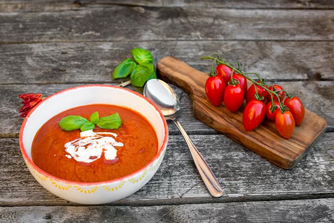 Томатный суп-пюре с пряностями