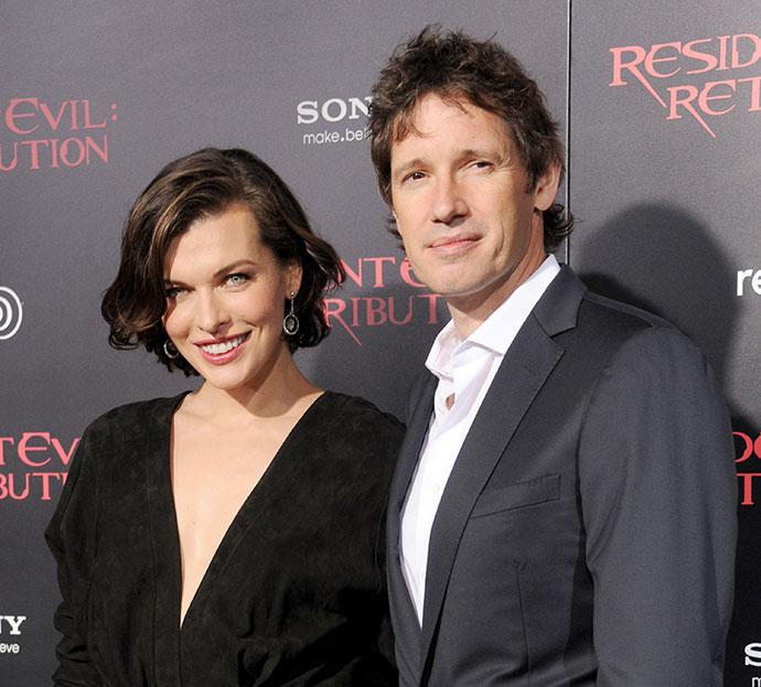 Милла Йовович с супругом Полом Андерсоном