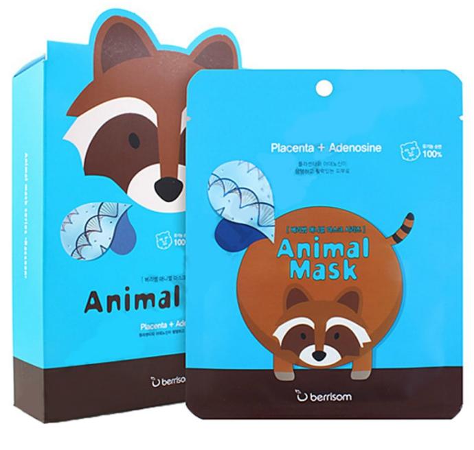 Маски Berrisom Animal Mask Collagen
