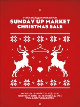 Sunday up market christmas sale