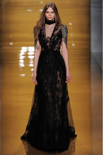 Black tie: показы Carolina Herrera, Reem Acra и Zac Posen на Неделе моды в Нью-Йорке | галерея [3] фото [9]