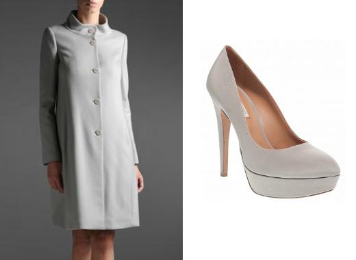 Пальто Emporio Armani, туфли Rita Eliseo (Fashion Galaxy)