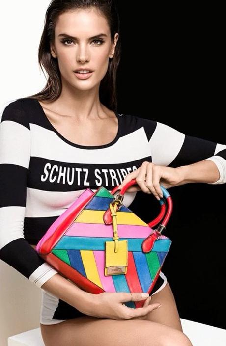 Разноцветная сумка от Schutz