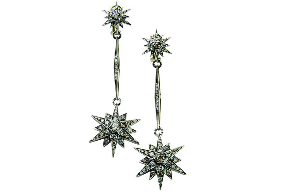 Серьги Stars, золото, бриллианты, H.Stern.