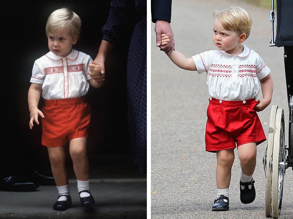 Принц Уильям в детстве и принц Георг: фото