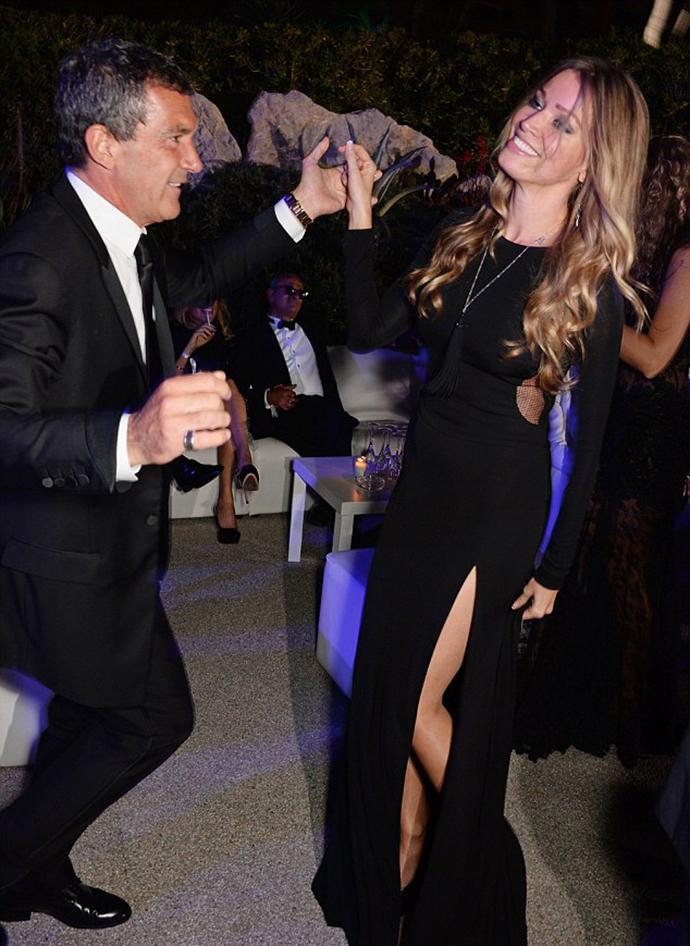 Антонио Бандерас и Николь Кемпел на вечеринке в Каннах