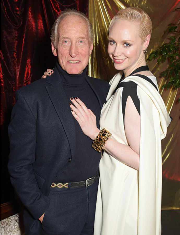 Charles Dance (L) and Gwendoline Christie