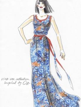 Эскиз платья Viva Vox по мотивам фильма «Оз: Великий и Ужасный»