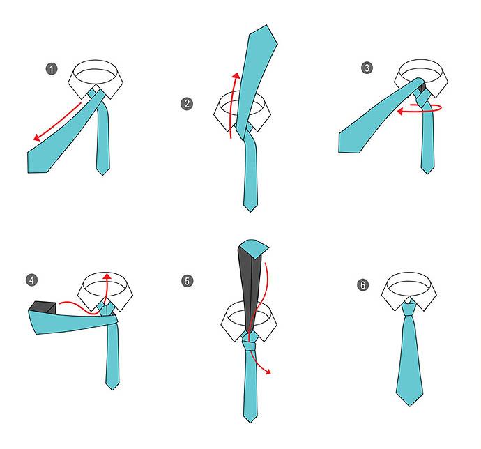 Способы завязывать галстук схемы
