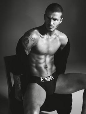 Дэвид Бекхэм в рекламе Armani Underwear