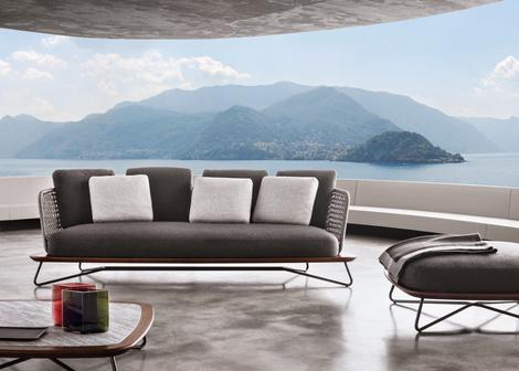 Outdoor коллекция мебели Rivera от фабрики Minotti | галерея [1] фото [2]
